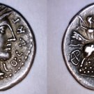 116-115BC Roman Republic Curtia-2 Q Curtius AR Denarius Coin -Ancient Rome