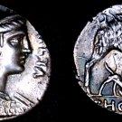 64BC Roman Republic Hosidia-1 AR Denarius Coin -Ancient Rome