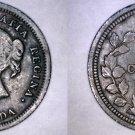 1870 Canada 5 Cent World Silver Coin - Canada - Wide Rim