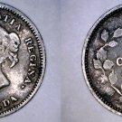 1880-H Canada 5 Cent World Silver Coin - Canada - Victoria
