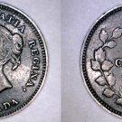 1901 Canada 5 Cent World Silver Coin - Canada - Victoria