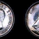 1945 Canada 10 Cent World Silver Coin - Canada - George VI