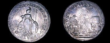 c.1740 Swiss Canton Basel School Prize Medal - Silver