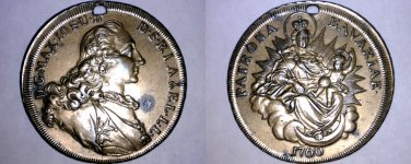 German States Bavaria Madonna Thaler Holed Medal