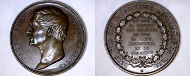 c.1855 Medal Geneva Switzerland James Fazy