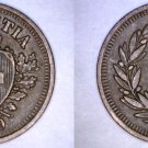 1929-B Swiss 1 Rappen World Coin - Switzerland