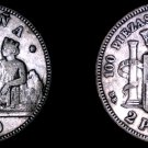 1870(74)-DE M Spanish 2 Peseta World Silver Coin - Spain