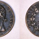 1829-A French Colonies 5 Centimes World Coin