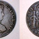 1821-JJ Spanish Colony Mexico 8 Reales World Silver Coin - Ferdinand VII - Holed