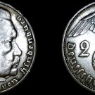 1938-A German 2 Reichsmark World Silver Coin -  Germany 3rd Reich