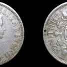 1956 2 Shilling Coin Florin Great Britain UK England