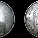 1934-J German 5 Reichsmark World Silver Coin - Germany 3rd Reich - Key Date
