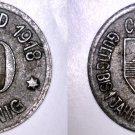 1918 German 10 Pfennig Kriegsgeld World Coin -  Coblenz Germany Notgeld