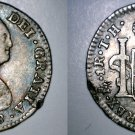 1808/7-Mo TH Spanish Colony Mexico 1 Real World Silver Coin - Charles IIII