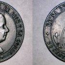 1868-OM Spanish 2-1/2 Centimos World Coin - Spain - Isabel II
