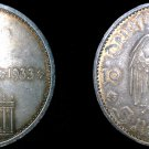 1934-A German 5 Reichsmark World Silver Coin - Germany 3rd Reich - KM-82