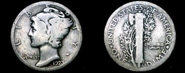 1923-P Mercury Dime Silver
