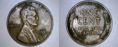 1937-P Abraham Lincoln Wheat Penny