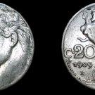 1909-R Italian 20 Centesimi World Coin - Italy