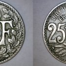 1926 French 25 Centimes World Coin - France
