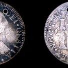 1785NG M Guatemalan 2 Reales World Silver Coin - Guatemala - Charles III- Holed