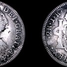 1774-PTS JR Bolivian 2 Reales World Silver Coin - Charles III - Holed - Bolivia