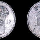 1917-W Sweden 10 Ore World Silver Coin