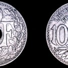 1931 French 10 Centimes World Coin - France