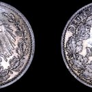 1916-A German Empire Half (1/2) Mark World Silver Coin -  Germany