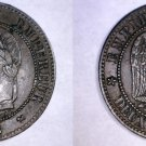 1862-K French 2 Centimes World Coin - France