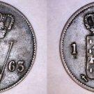 1863 Netherlands 1 Cent World Coin