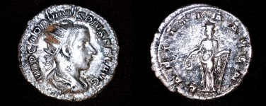 238-244AD Roman Imperial Gordian III AR-23 Antoninianus Coin - Ancient - RIC-86