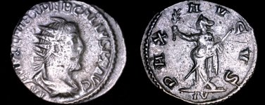 252AD Roman Imperial Trebonianus Gallus AR22 Antoninianus - Ancient Rome -RIC-86