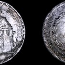1889-A French Indo-China 1 Piastre World Silver Coin - Vietnam