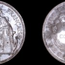 1902-A French Indo-China 1 Piastre World Silver Coin - Vietnam