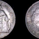 1925-A French Indo-China 1 Piastre World Silver Coin - Vietnam
