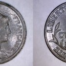 1913 French 1 Centime World Coin - France