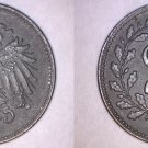 1918 Austrian 20 Heller World Iron Coin - Austria - World War I Era