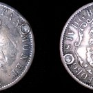 1822 British West Indies 1/4 Dollar World Silver Coin - Anchor Money - Plugged