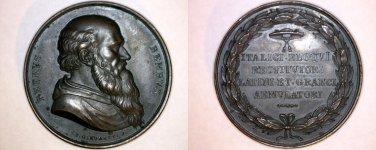 Pietro Bembo Bust in Bronze Medal by P. Girometti (1811-59) -Italian Reniassance