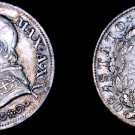1867-XXIR Italian States Papal States 10 Soldi World Silver Coin - Pius IX