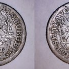 1727-IHL German States Hamburg 2 Schilling World Silver Coin