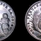 1916 Peruvian 1/5 Sol World Silver Coin -  Peru