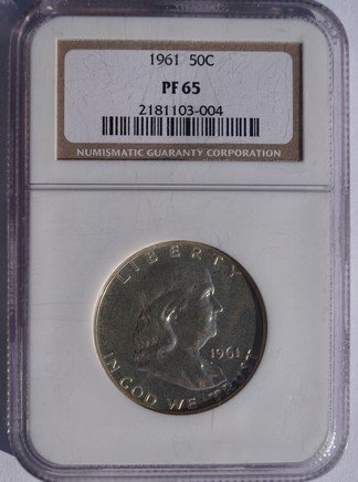 1961 Franklin Half Dollar Silver Proof NGC PR65 Certified
