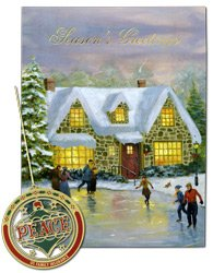 Pack of 5 Holiday Cards w/ Ornament