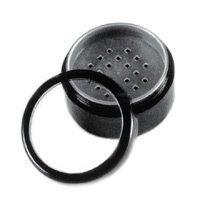 Empty 30gram Black Sifter Jar w sifter