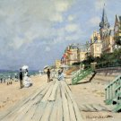 Renaissance Museum & Art - Beach at trouville by Monet - Canvas Art Print