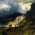 Bierstadt - Storm in the Rocky Mountains - A3 Poster