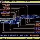 Vinteja charts of - LCARS UFP Galaxy Class Starship - A3 Paper Print