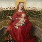 Madonna and Child in a rose garden - A3 Poster
